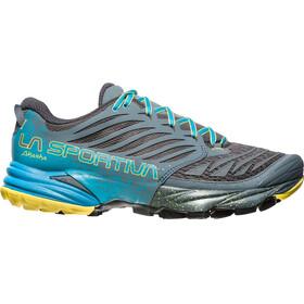 La Sportiva Akasha Running Shoes Men Slate/Tropic Blue